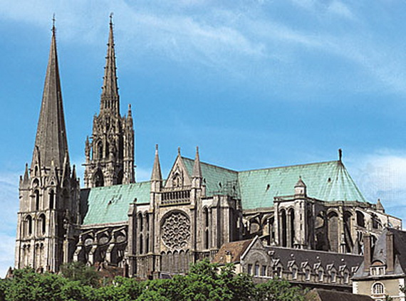 Chartres France  City new picture : Notre Dame de Chartres, Gothic Cathedrals, France