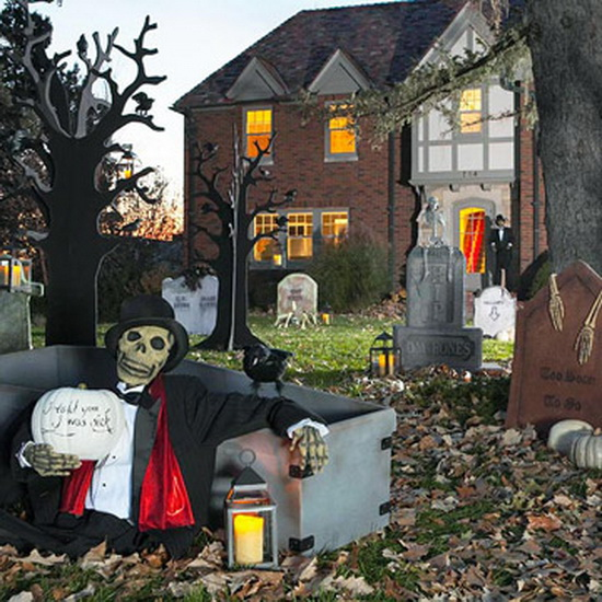 Halloween holiday spirit and outdoor ideas family - Fabriquer deco halloween ...