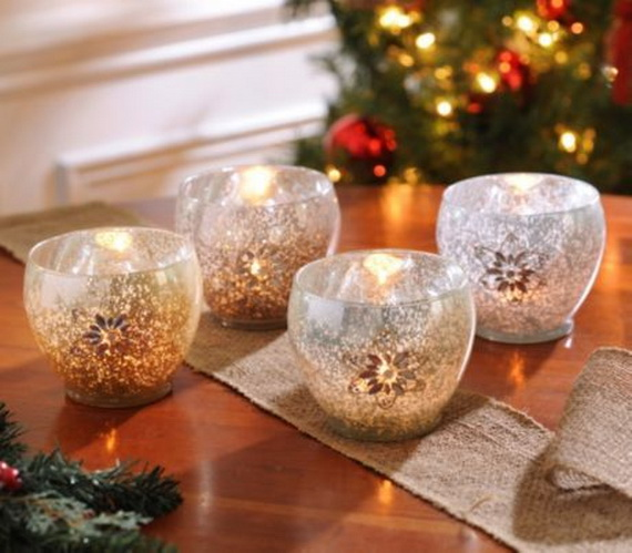 cool christmas holiday candles decoration ideas_26 - How To Decorate Votive Candle Holders For Christmas