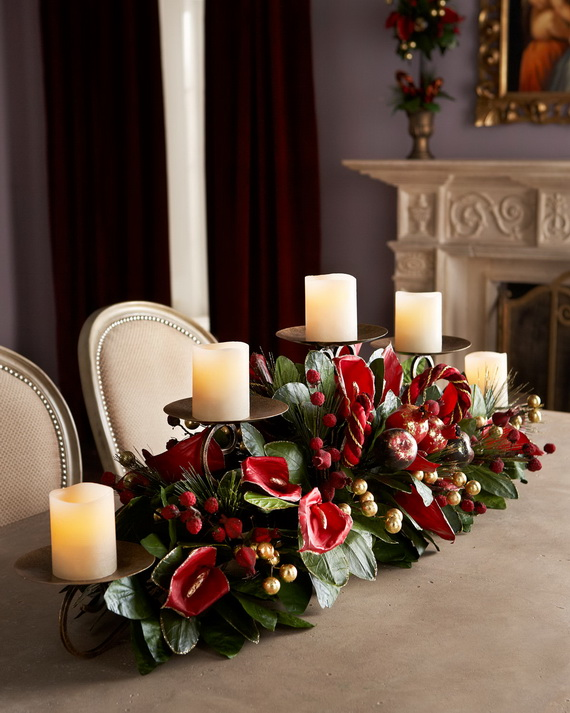 Cool Christmas Holiday Candles Decoration Ideas_27