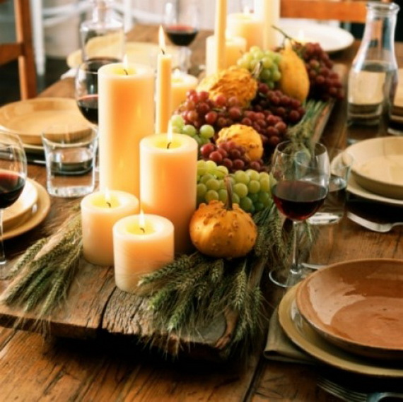 Elegant Table Decorations For Thanksgiving Holiday