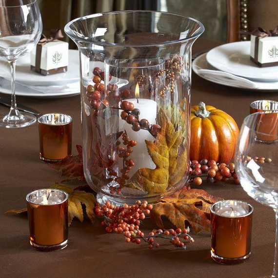 Elegant Table Decorations For Thanksgiving Holiday_22