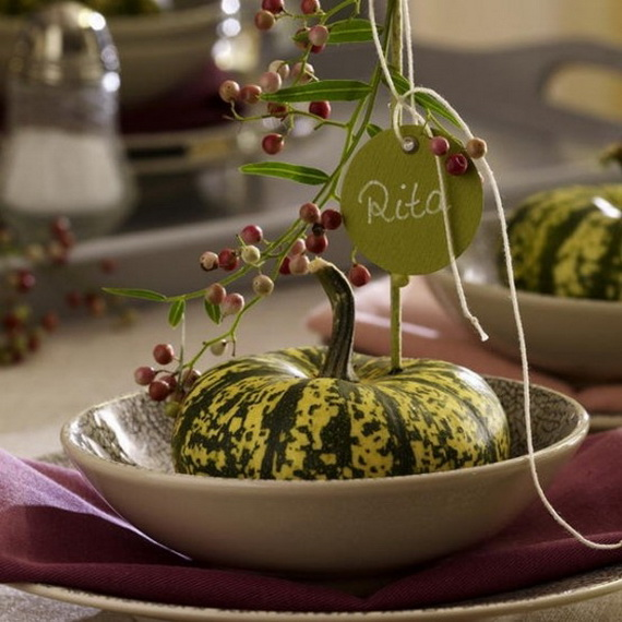 Elegant Table Decorations For Thanksgiving Holiday_25