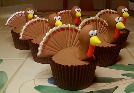 Ideas for Thanksgiving Holiday Cupcake Decorating (10)