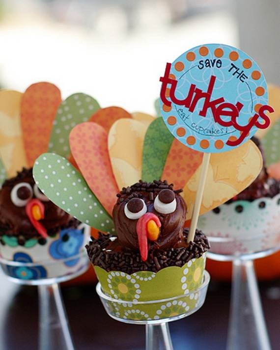 Ideas for Thanksgiving Holiday Cupcake Decorating (8)
