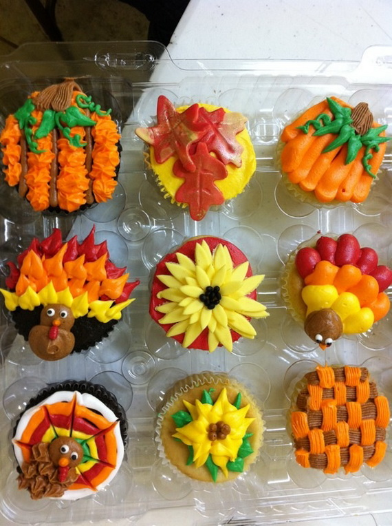 Thanksgiving Holiday Cupcakes Party Ideas_09
