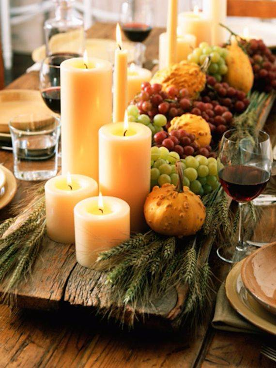 Thanksgiving Candle Centerpiece Idea Family Holiday Net