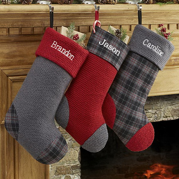 here are some christmas stockings decorating ideas that might inspire