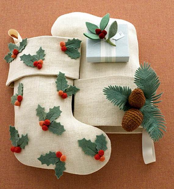 Elegant Christmas Stockings Holiday Crafts Family