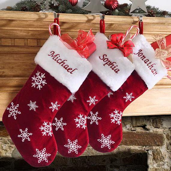 Hanging Christmas Stockings for Holidays_16
