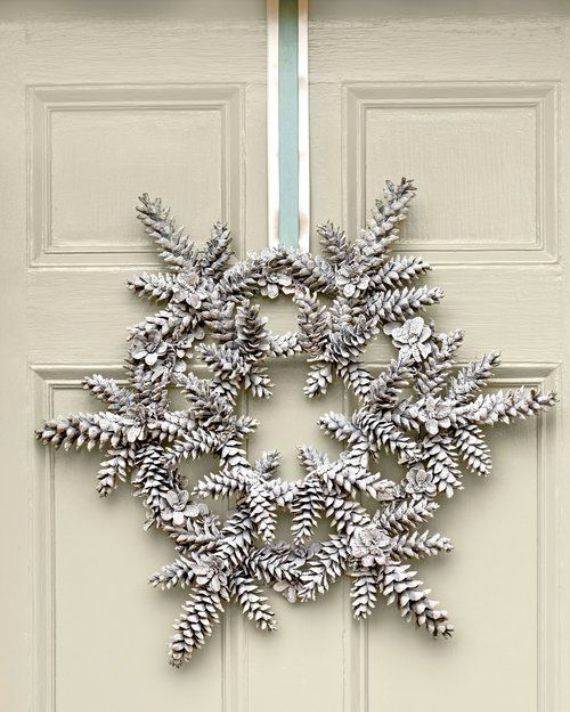 Painted pine cone crafts for thanksgiving holiday family to family holidays - Crafty winter decorations with pine cones ...