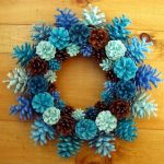 Painted Pine cone Crafts For Thanksgiving Holiday