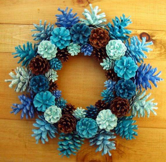 painted-pine-cone-crafts-for-thanksgiving-holiday-7