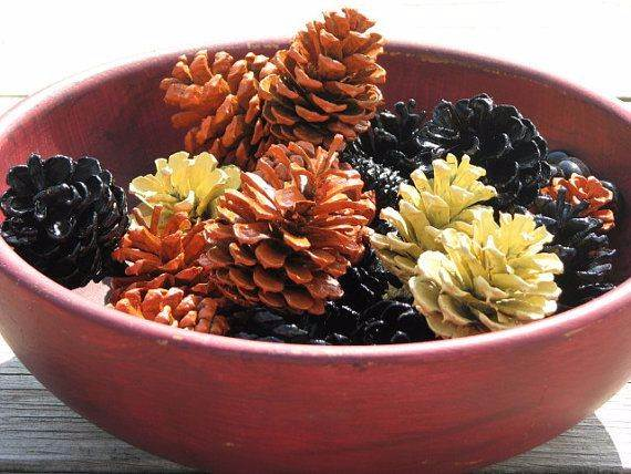 painted-pine-cone-crafts-for-thanksgiving-holiday-9