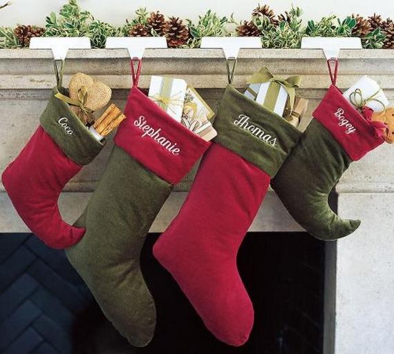 christmas stockings decorating ideas family to
