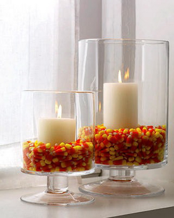 Thanksgiving holiday candle display ideas family holiday for Christmas candle displays