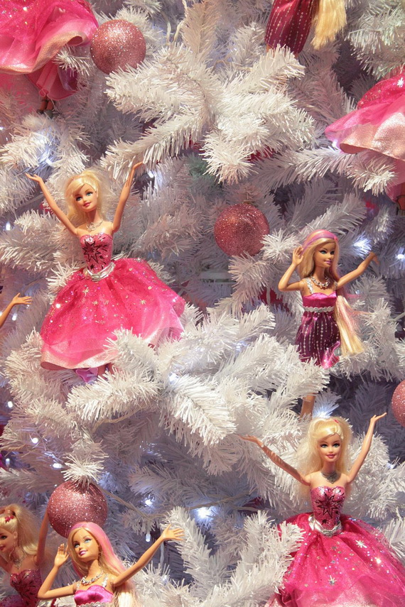 A Holiday Barbie Themed Christmas Tree_14