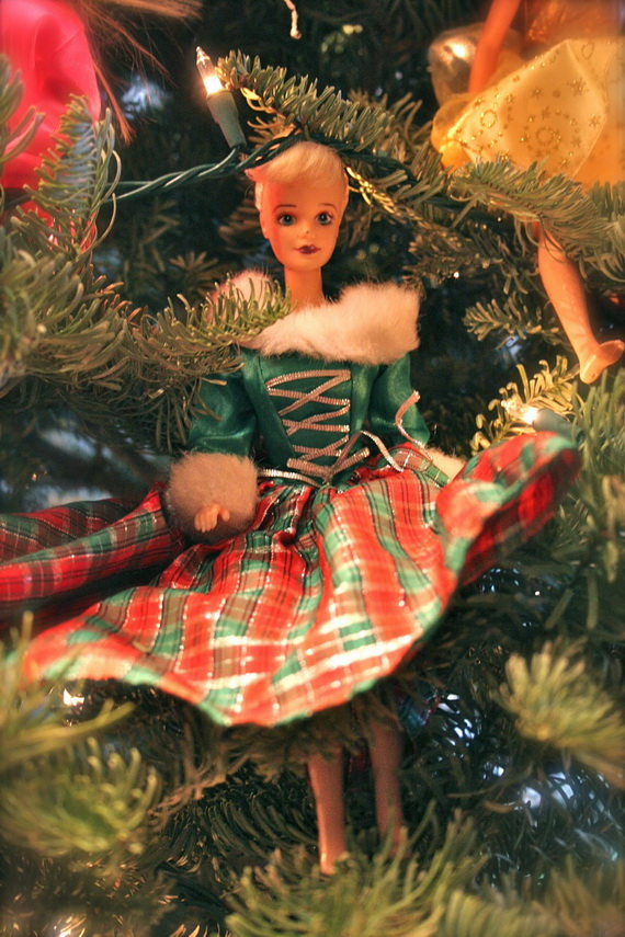 A Holiday Barbie Themed Christmas Tree_19