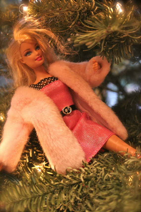 A Holiday Barbie Themed Christmas Tree_20