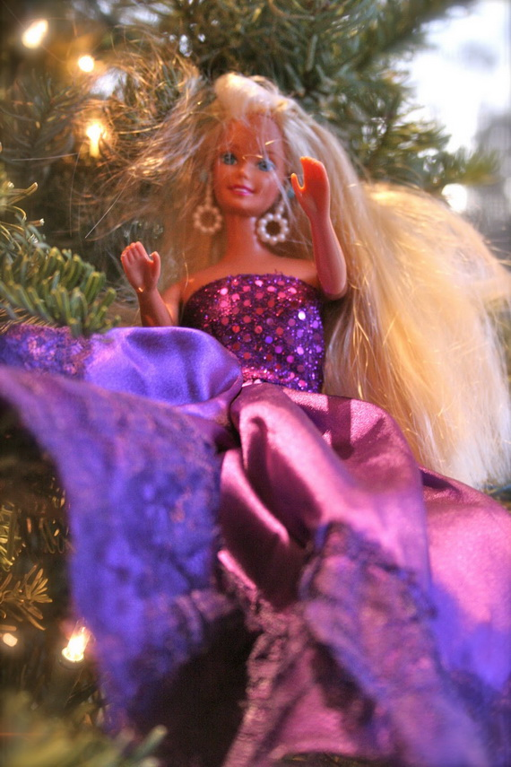 A Holiday Barbie Themed Christmas Tree_21