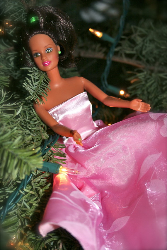 A Holiday Barbie Themed Christmas Tree_25