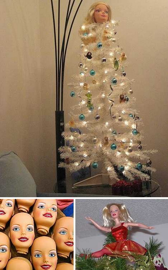 A Holiday Barbie Themed Christmas Tree_41