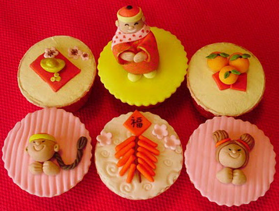 Chinese New Year Cupcakes for the Holiday - family holiday.net/guide ...