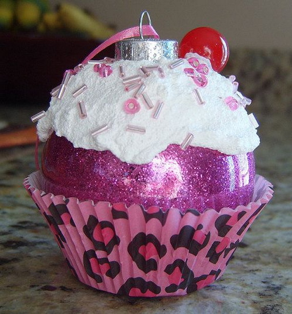 Gorgeous Christmas Cupcake Ornaments Decorations for Holidays _02