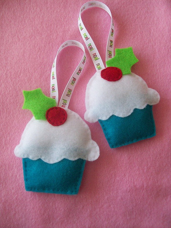 Gorgeous Christmas Cupcake Ornaments Decorations for Holidays _05