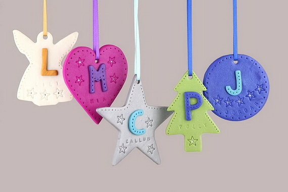 Handmade Polymer clay Christmas Ornament Crafts for Holidays _01