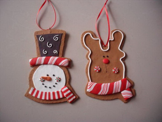 Handmade Polymer clay Christmas Ornament Crafts for Holidays _07