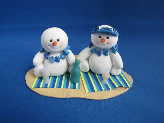 Polymer Clay Snowman for   Christmas Holiday_07