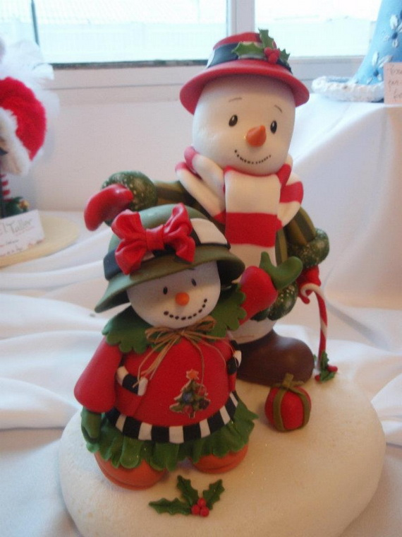 Polymer Clay Snowman for   Christmas Holiday_11