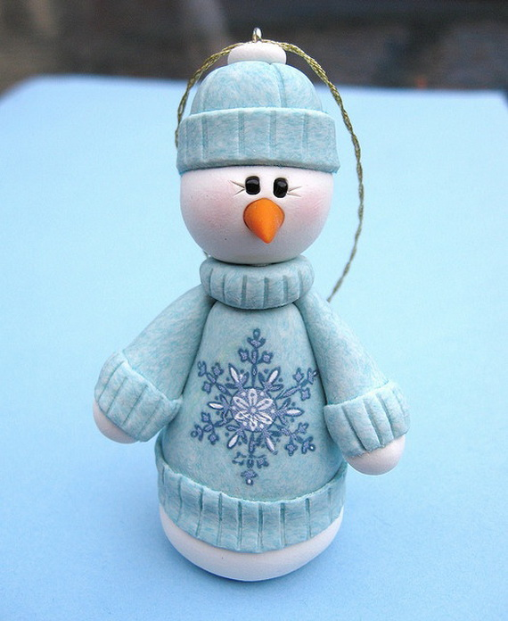 Polymer Clay Snowman for   Christmas Holiday_12