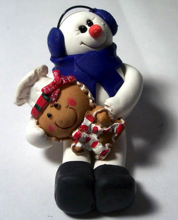 Polymer Clay Snowman for   Christmas Holiday_14