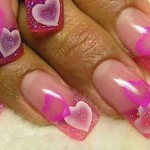Valentine Holiday Nail Art Designs