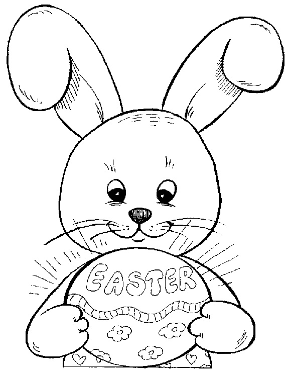 Easter Bunny Coloring Pages For Kids Family Holidaynet