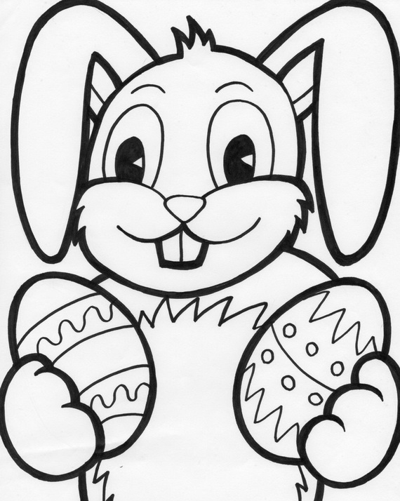 easter bunny coloring pages for kids family