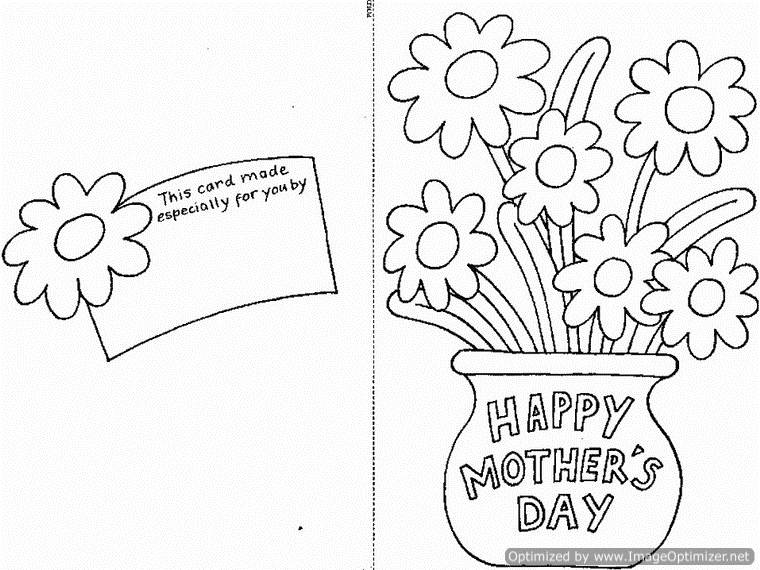 Happy Mothers Day Coloring Pages for Kids family holidaynetguide