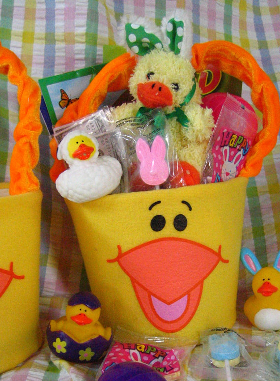 Personalized handmade toy easter gift basket for kids family related posts personalized hand painted girl bunny easter basket ideas personalized handmade easter toy gift negle Gallery