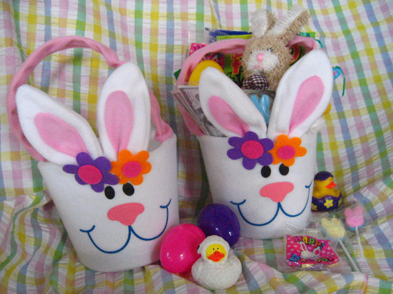 Personalized handmade toy easter gift basket for kids family related posts personalized hand painted girl bunny easter basket ideas personalized handmade easter toy gift negle Choice Image