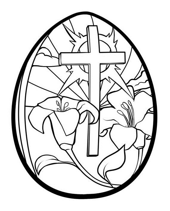 Adult Colouring Pages Easter 11