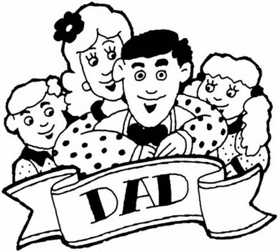 Daddy Coloring Pages For Kids on Fathers Day family holidaynet