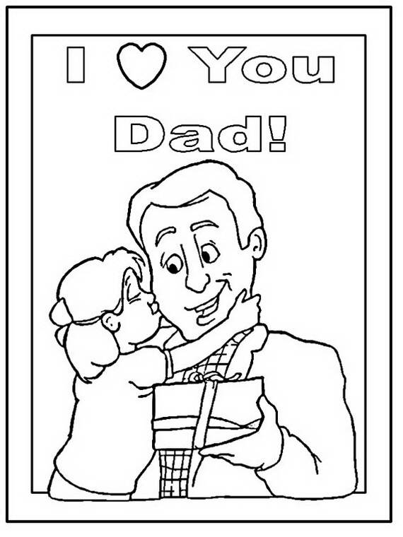 daddy coloring pages for kids on fathers day