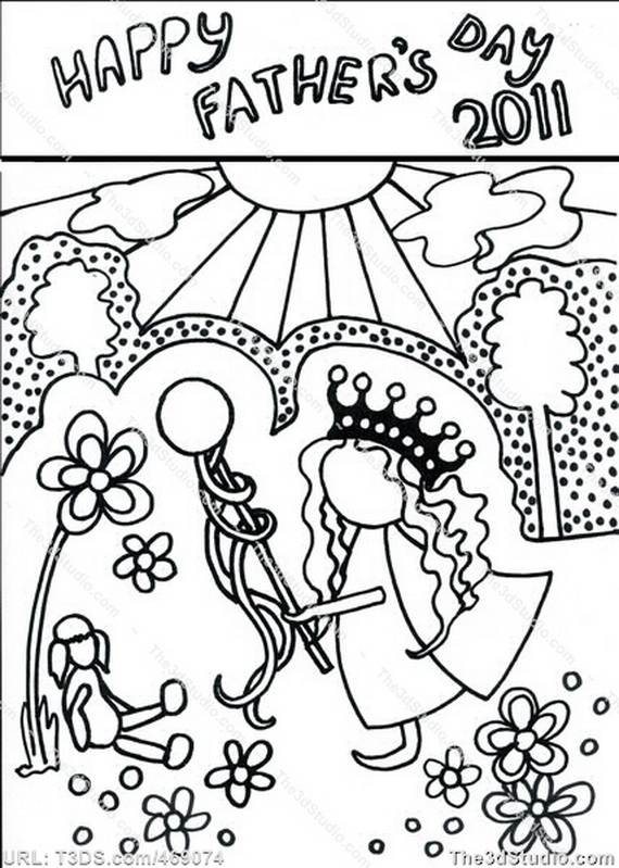 Fathers Day Adult Coloring Pages 071