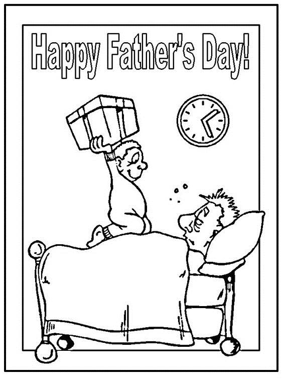 Happy Fathers Day Coloring Pages For The Holiday - family holiday ...