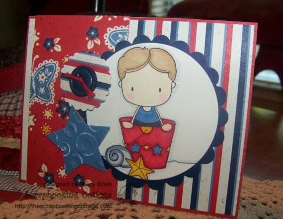 4th July Independence Day Homemade  Greeting Cards (1)