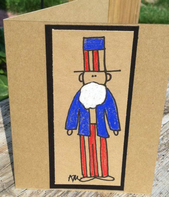 4th July Independence Day Homemade  Greeting Cards (28)