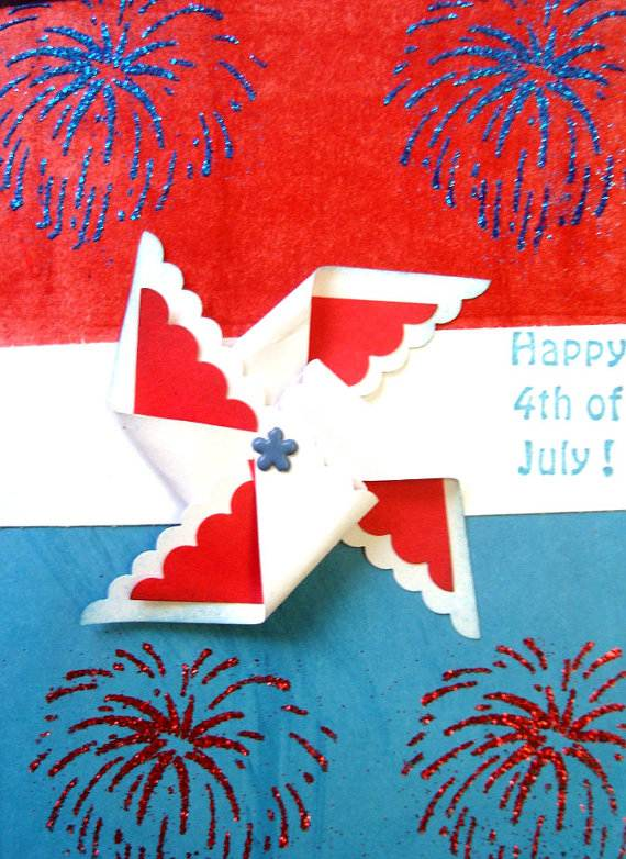 4th July Independence Day Homemade  Greeting Cards (45)