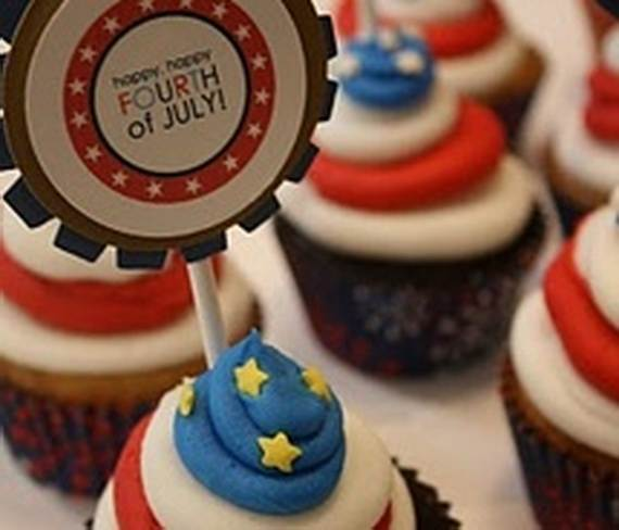 Independence Day Cakes & Cupcakes Decorating Ideas (10)